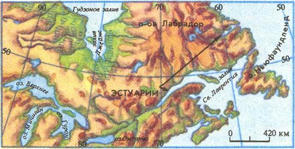 Полуостров лабрадор где находится на карте